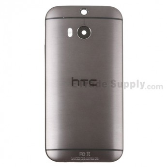 For HTC One M8 Rear Housing Replacement (Gray) and Sprint Version - With Words - Grade S+