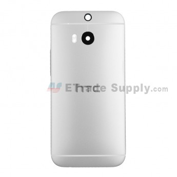 For HTC One M8 Rear Housing Replacement (Silver) - Without Words - Grade A