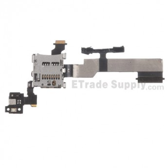 For HTC One M8 SD Card Reader Contact with Flex Cable Ribbon Replacement - Grade S+