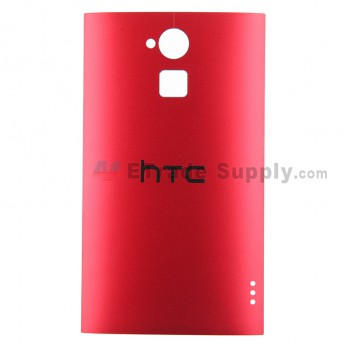 For HTC One Max Battery Door Replacement - Red - With Logo - Grade S+