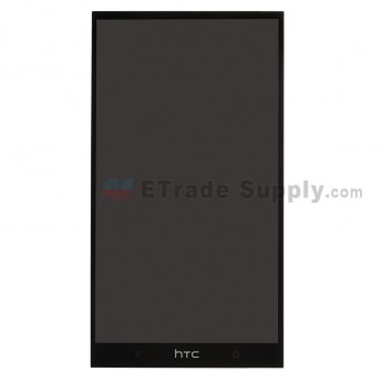 For HTC One Max LCD Screen and Digitizer Assembly without Light Guide Replacement - Black - With Logo Only - Grade S+
