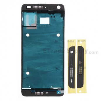 For HTC One Mini Front Housing Replacement - Black - Grade S+