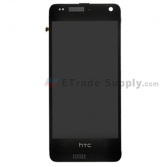 For HTC One Mini LCD Screen and Digitizer Assembly with Front Housing Replacement - Black - With Logo - Grade S+