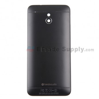 For HTC One Mini Rear Housing Replacement (Black) - With Logo - With Words - Grade S+