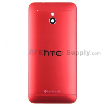 For HTC One Mini Rear Housing Replacement (Red) - With Logo - Without Words - Grade S+