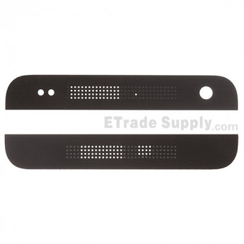 For HTC One Mini Top Cover and Bottom Cover  Replacement - Black - Grade S+