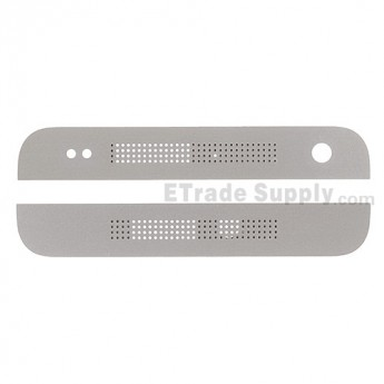 For HTC One Mini Top Cover and Bottom Cover  Replacement - White - Grade S+