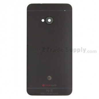 For HTC One Rear Housing Replacement (Black) - With Logo - Grade S+