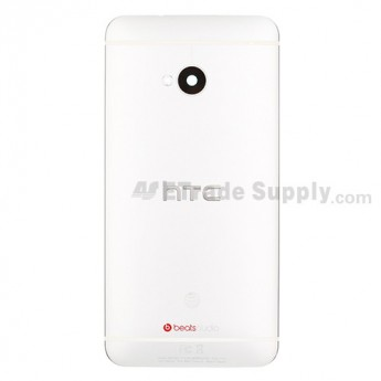 For HTC One Rear Housing Replacement (White) - With Logo - Grade S+