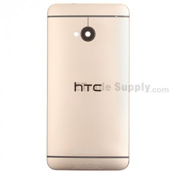 For HTC One Rear Housing Replacement (Gold) - With Logo - With Words - Grade S+