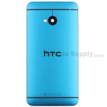 For HTC One Rear Housing Replacement (Light Blue) - With Logo - With Words - Grade S+