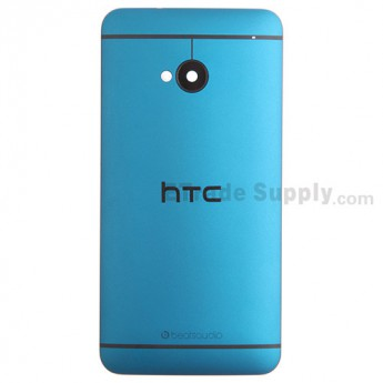 For HTC One Rear Housing Replacement (Turquoise) - With Logo - With Words - Grade S+
