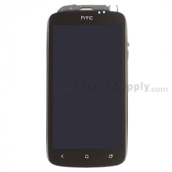 For HTC One S LCD Screen and Digitizer Assembly with Front Housing Replacement - Grade A