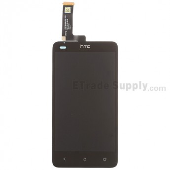 For HTC One SC T528D LCD Screen and Digitizer Assembly Replacement - Black - With Logo - Grade S+