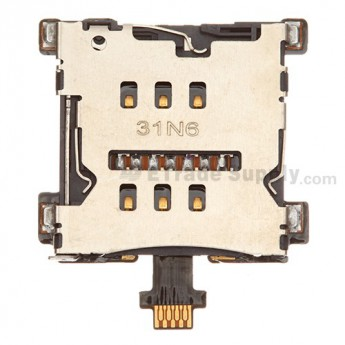 For HTC One SIM Card Reader Contact Flex Cable Ribbon Replacement - Grade S+
