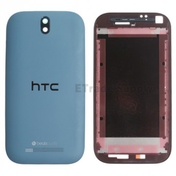 For HTC One SV Complete Housing Replacement (HTC) - Blue - Grade S+