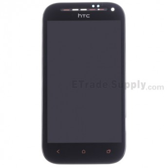 For HTC One SV LCD Screen and Digitizer Assembly with Front Housing Replacement - Black - Grade S+