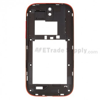 For HTC One SV Middle Plate Replacement - Red - Grade S+