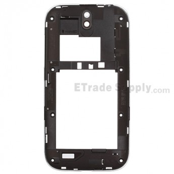 For HTC One SV Middle Plate Replacement - White - Grade S+