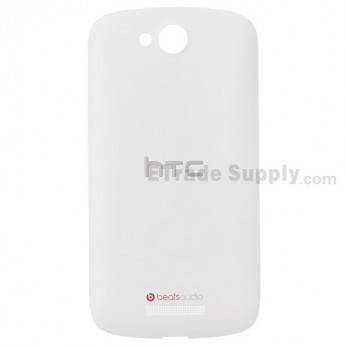 For HTC One VX Battery Door Replacement - White - With Logo - Grade S+