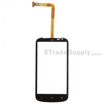 For HTC One VX Digitizer Touch Screen Replacement - Black - With Logo - Grade S+