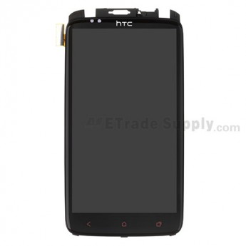 For HTC One X+ LCD and Digitizer Assembly with Front Housing and Light Guide Replacement (LCD: Sony Version) - With Logo - Grade S+