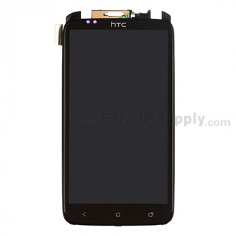 For HTC One X LCD Screen and Digitizer Assembly with Front Housing and Light Guide Replacement - Without  Logo - Grade A