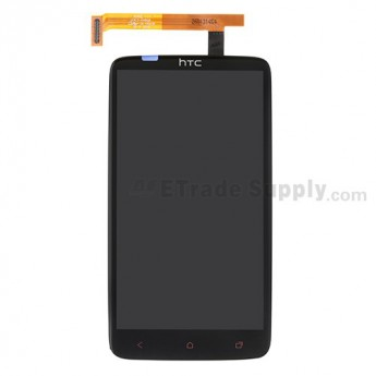 For HTC One X+ LCD and Digitizer Assembly with Light Guide Replacement (LCD: Sony Version) - Black - With Logo - Grade S+
