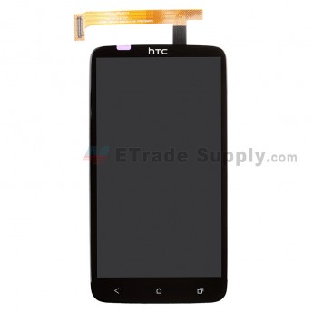 For HTC One X LCD Screen and Digitizer Assembly with Light Guide Replacement - Without Carrier Logo - Grade A
