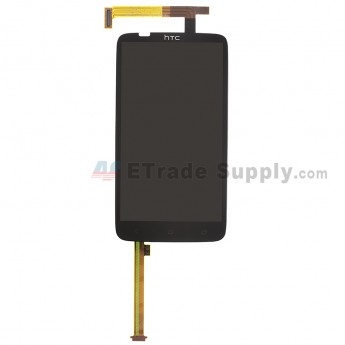 For HTC One X+ LCD Screen and Digitizer Assembly with Light Guide Replacement (LCD: Sharp Version) - Black - With Logo - Grade S+
