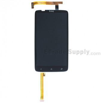 For HTC One X LCD Screen and Digitizer Assembly with Light Guide Replacement (LCD: Sharp Version) - Black -  Without Carrier Logo - Grade S+