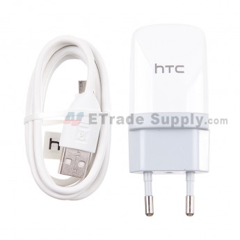 For HTC Sensation XL Charger and USB Cable ,White - Grade S+