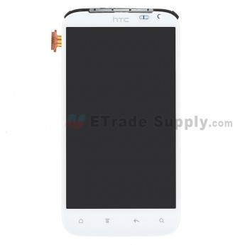 For HTC Sensation XL LCD Screen and Digitizer Assembly with LCD Chassis Plate Replacement - Grade S+