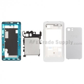 For HTC Vivid Complete Housing Replacement (AT&T) - White - Grade S+