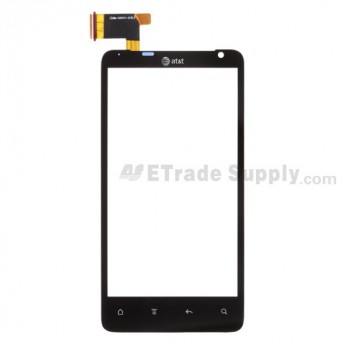 For HTC Vivid Digitizer Touch Panel  Replacement ,Black, With Logo - Grade S+