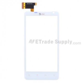 For HTC Vivid Digitizer Touch Panel  Replacement ,White, With Logo - Grade S+