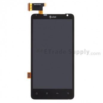For HTC Vivid LCD Screen and Digitizer Assembly with Light Guide Replacement - Black - With Logo - Grade S+