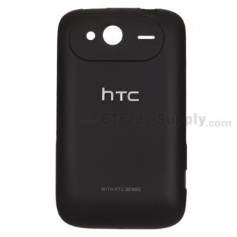 For HTC Wildfire S Battery Door Replacement (HTC) ,Black - Grade S+