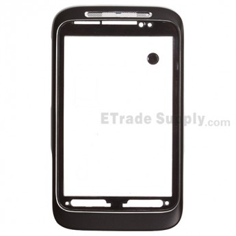 For HTC Wildfire S Front Housing Replacement (HTC) ,Black - Grade S+