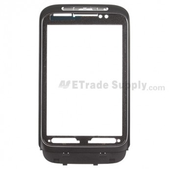 For HTC Wildfire S Front Housing Replacement (T-Mobile) ,Black - Grade S+