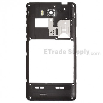 For Huawei Ascend G615 Rear Housing Replacement - Black - Grade S+