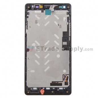 For Huawei Ascend G700 LCD Screen and Digitizer Assembly with Front Housing Replacement - Black - With Logo - Grade S+