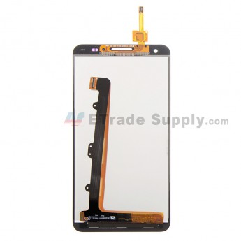 For Huawei Ascend G750 LCD Screen and Digitizer Assembly Replacement - Black - With Logo - Grade S+