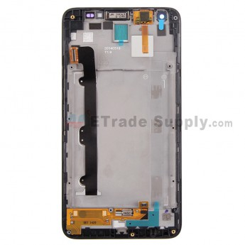 For Huawei Ascend G750 LCD Screen and Digitizer Assembly with Front Housing Replacement - Black - With Logo - Grade S+
