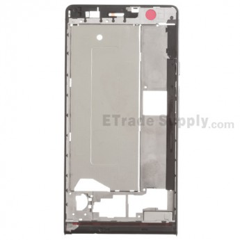 For Huawei Ascend P6 Front Housing Replacement - Black - Grade S+