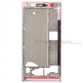 For Huawei Ascend P6 Front Housing  Replacement - Pink - Grade S+
