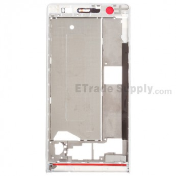 For Huawei Ascend P6 Front Housing  Replacement - White - Grade S+