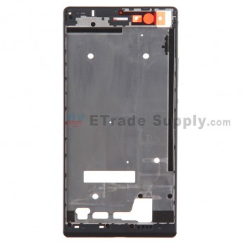For Huawei Ascend P7 Front Housing Replacement - Black - Grade S+