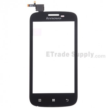 For Lenovo A760 Digitizer Touch Screen  Replacement - Black - With Logo - Grade S+