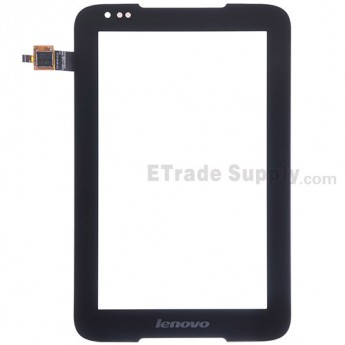 For Lenovo IdeaTab A1000 Digitizer Touch Screen  Replacement - Black -  With Lenovo Logo - Grade S+
